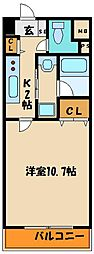 YKハイツ西明石Ⅱ[8階]の間取り