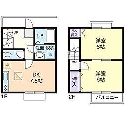 [テラスハウス] 神奈川県厚木市戸室2丁目 の賃貸【/】の間取り