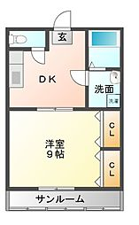 タヤハイツ[2階]の間取り
