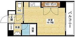 ドルチェヴィータ新大阪[8階]の間取り