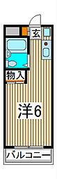 ヨウコースクウェア中浦和[2階]の間取り
