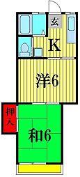 アシュレ松戸栄町[3階]の間取り