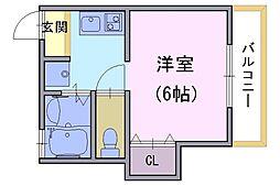 ローレルコート壱番館[1階]の間取り