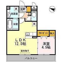 長崎県大村市古賀島町の賃貸アパートの間取り