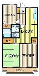 ペルテミノール[4階]の間取り