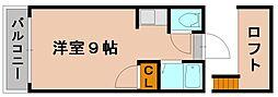 ベルシオン福岡第一[2階]の間取り