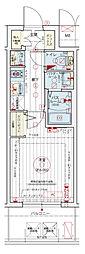 Osaka Metro千日前線 阿波座駅 徒歩5分の賃貸マンション 8階1Kの間取り