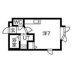 ヴィクトワール澄川[1階]の間取り