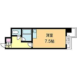 北海道札幌市北区北十三条西2丁目の賃貸マンションの間取り