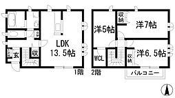 [一戸建] 兵庫県西宮市上甲東園6丁目 の賃貸【/】の間取り