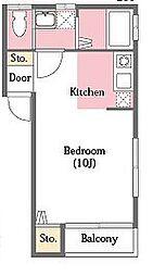 ロイヤルハウス[1階]の間取り