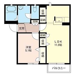ソレーユ美鈴[2階]の間取り