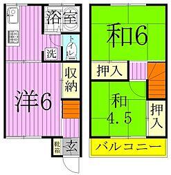 [タウンハウス] 千葉県松戸市新松戸3丁目 の賃貸【千葉県 / 松戸市】の間取り