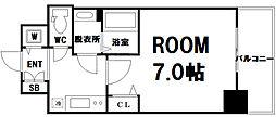 Osaka Metro中央線 九条駅 徒歩7分の賃貸マンション 12階1Kの間取り