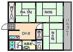 山福マンション[405号室]の間取り