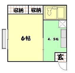 高間メゾン アパート[201号室]の間取り
