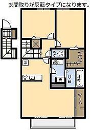 (新築)セジュール・アイII B棟[206号室]の間取り