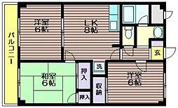 東京都世田谷区上祖師谷4の賃貸マンションの間取り