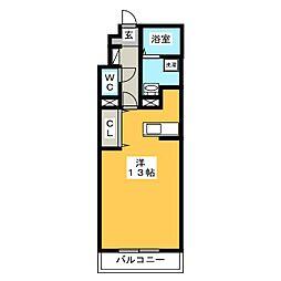 マンションリッツ[1階]の間取り