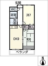 SKYWAY2001[2階]の間取り