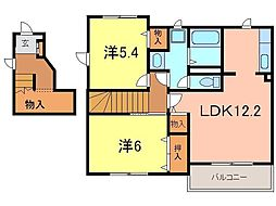 タウン樹 B[2階]の間取り