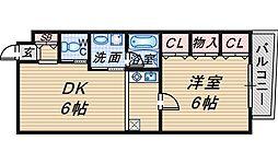 アヴィタシヨン曽根[3階]の間取り