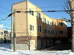 北海道札幌市北区篠路二条3丁目の賃貸アパートの外観