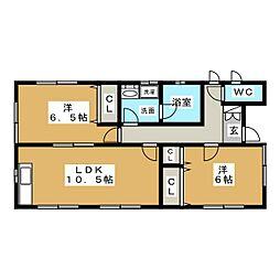 [一戸建] 宮城県仙台市太白区東中田1丁目 の賃貸【/】の間取り