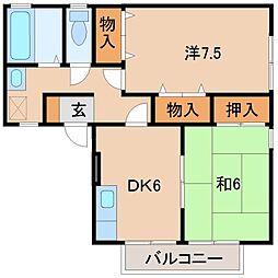 ガーデン・シャトレi フ ァミリー棟[2階]の間取り