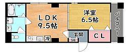 JR東海道・山陽本線 六甲道駅 徒歩4分の賃貸マンション 5階1LDKの間取り