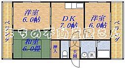 シャトータケムラ[3階]の間取り
