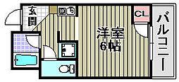 Rovere Ozaki[4C号室]の間取り