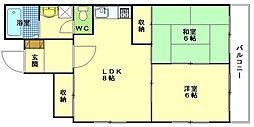 広島県広島市西区三篠町の賃貸マンションの間取り