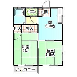 岩田アパート[202号室]の間取り
