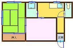 広島県呉市和庄登町の賃貸アパートの間取り