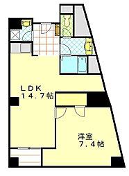 スカイライト横須賀中央[2F号室]の間取り