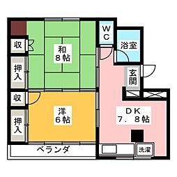 梅田ハイツ[3階]の間取り
