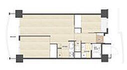 ビレッジハウス香椎浜タワー[4階]の間取り