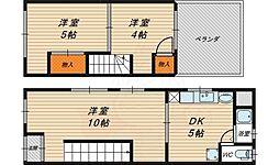 Osaka Metro谷町線 千林大宮駅 徒歩12分の賃貸一戸建て 1階3DKの間取り