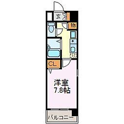 愛知県名古屋市中区大須4丁目の賃貸マンションの間取り