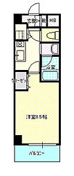 フローラル中葛西5[3階]の間取り