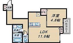 (仮称)曽根東町2丁目マンション[202号室]の間取り