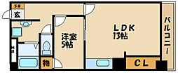 西明石ピア[3階]の間取り