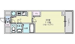 Osaka Metro御堂筋線 江坂駅 徒歩7分の賃貸マンション 8階1Kの間取り