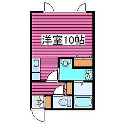 北海道札幌市東区北三十八条東15丁目の賃貸アパートの間取り