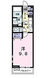 トロバドール中吉野[103号室]の間取り