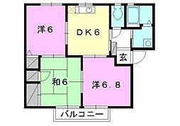 フォーレス森田[C-202 号室号室]の間取り
