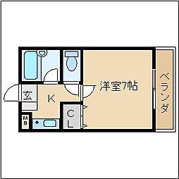 ソレイユ21[3階]の間取り