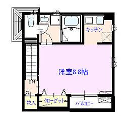 東京都台東区上野桜木1丁目の賃貸アパートの間取り