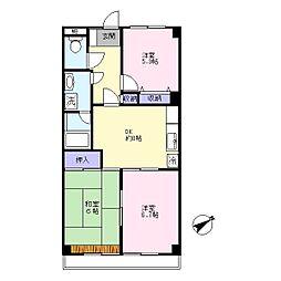 第二村田マンション[402号室]の間取り